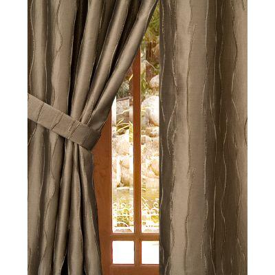 Home Decorators Collection Semi-Opaque Antique Gold Dolce Rod Pocket Panel - in. W x 96 in. L