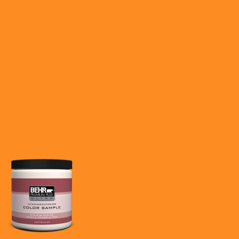 BEHR Premium Plus Ultra 8 oz. #S-G-280 Mango Madness Matte Interior/Exterior Paint and Primer in One Sample