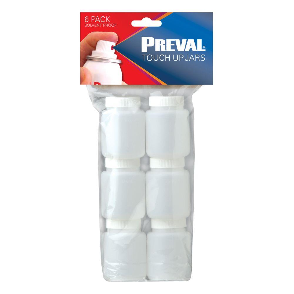 Preval Touch Up Jars 6 Pack 0270 The Home Depot