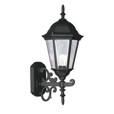 Providence Wall-Mount 1-Light Black Outdoor Incandescent Lantern
