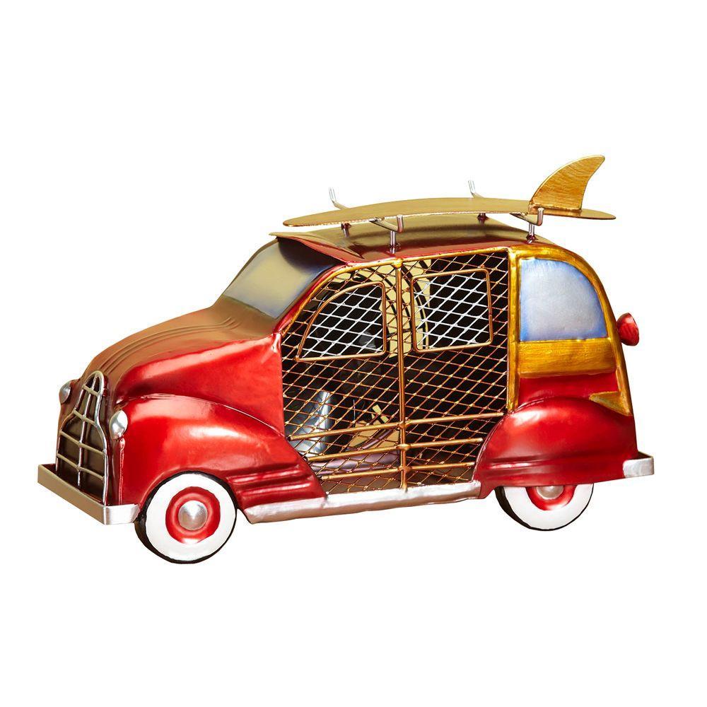 Deco Breeze 7 in. Figurine Fan-Woody Car