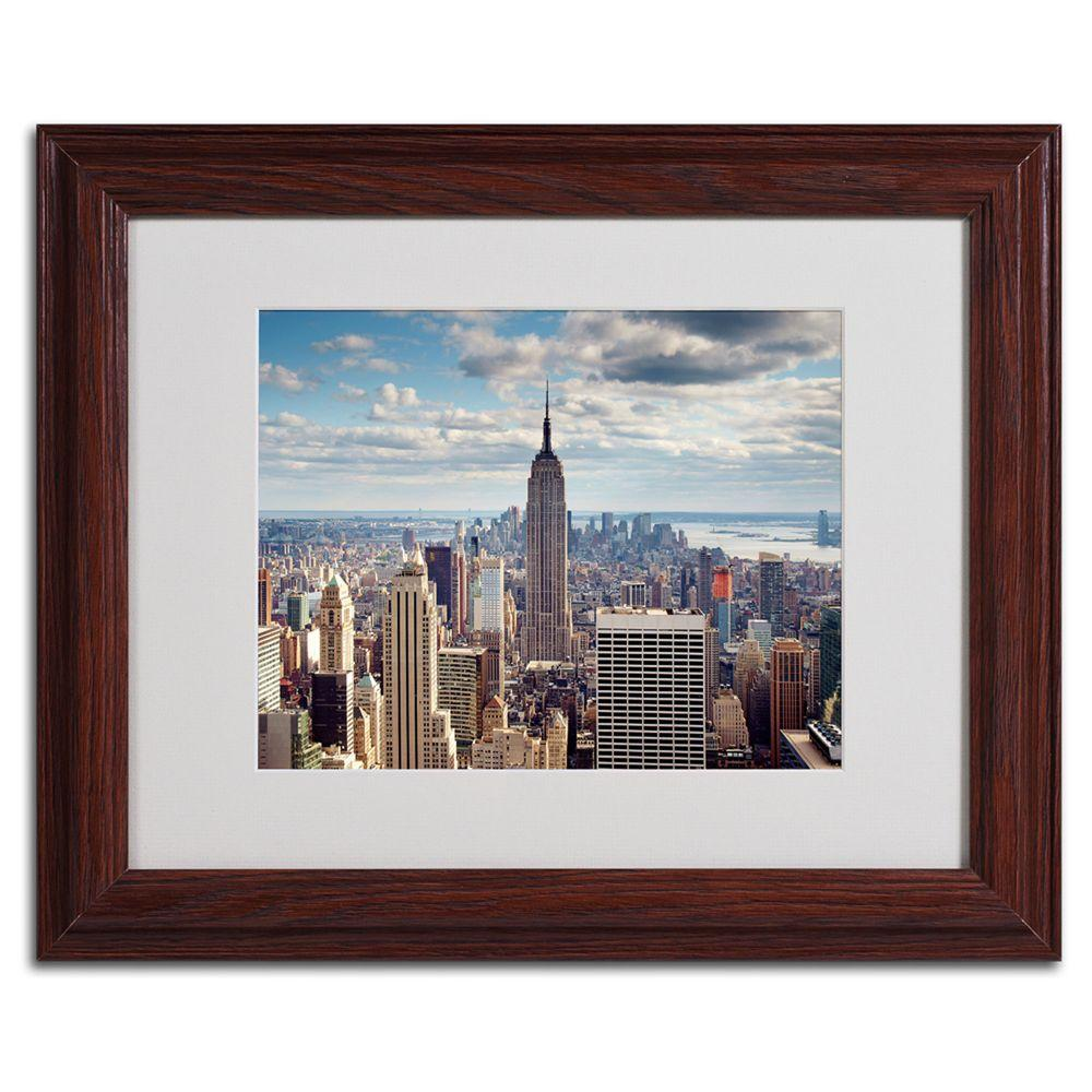 11 in. x 14 in. Empire View Matted Framed Art