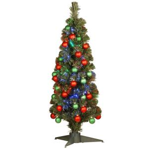 National Tree Company 3 Ft Fiber Optic Fireworks Ornament  - 36 Fiber Optic Christmas Tree