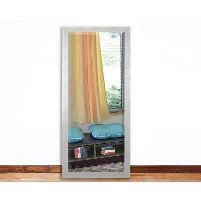59.5 in. x 20.5 in. Taciturn Silver Gunmetal Tall Beveled Mirror