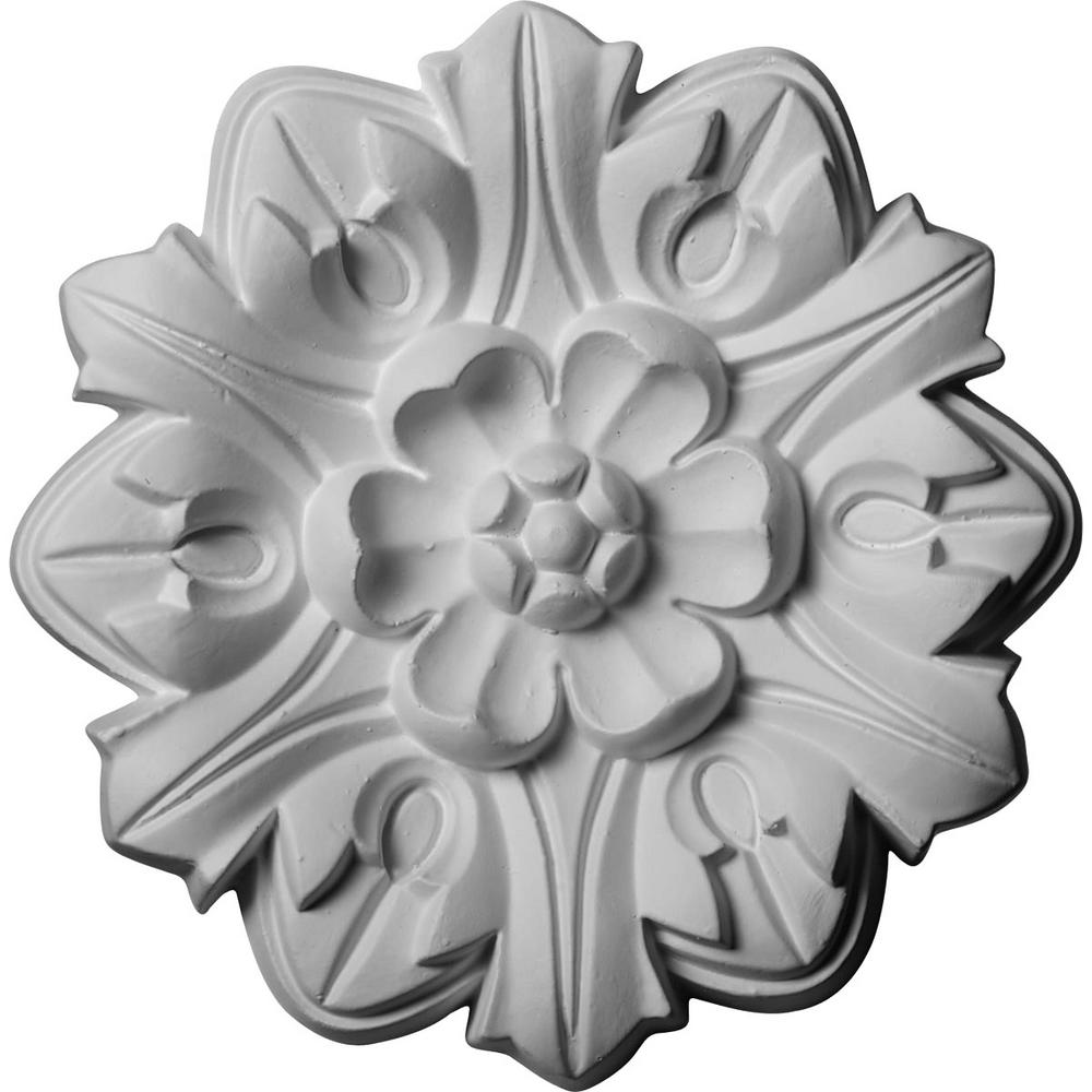 7-5/8 in. O.D. x 1 in. P Emery Leaf Ceiling Medallion