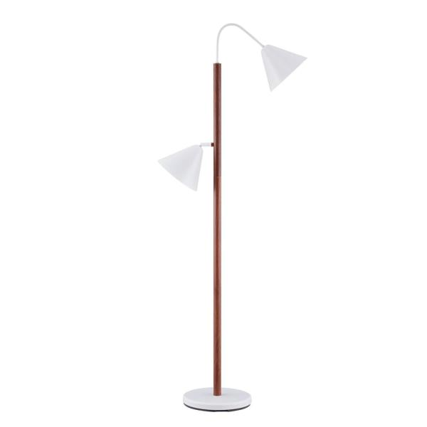 Gretch 60.5 in. Brown Contemporary Floor Lamp