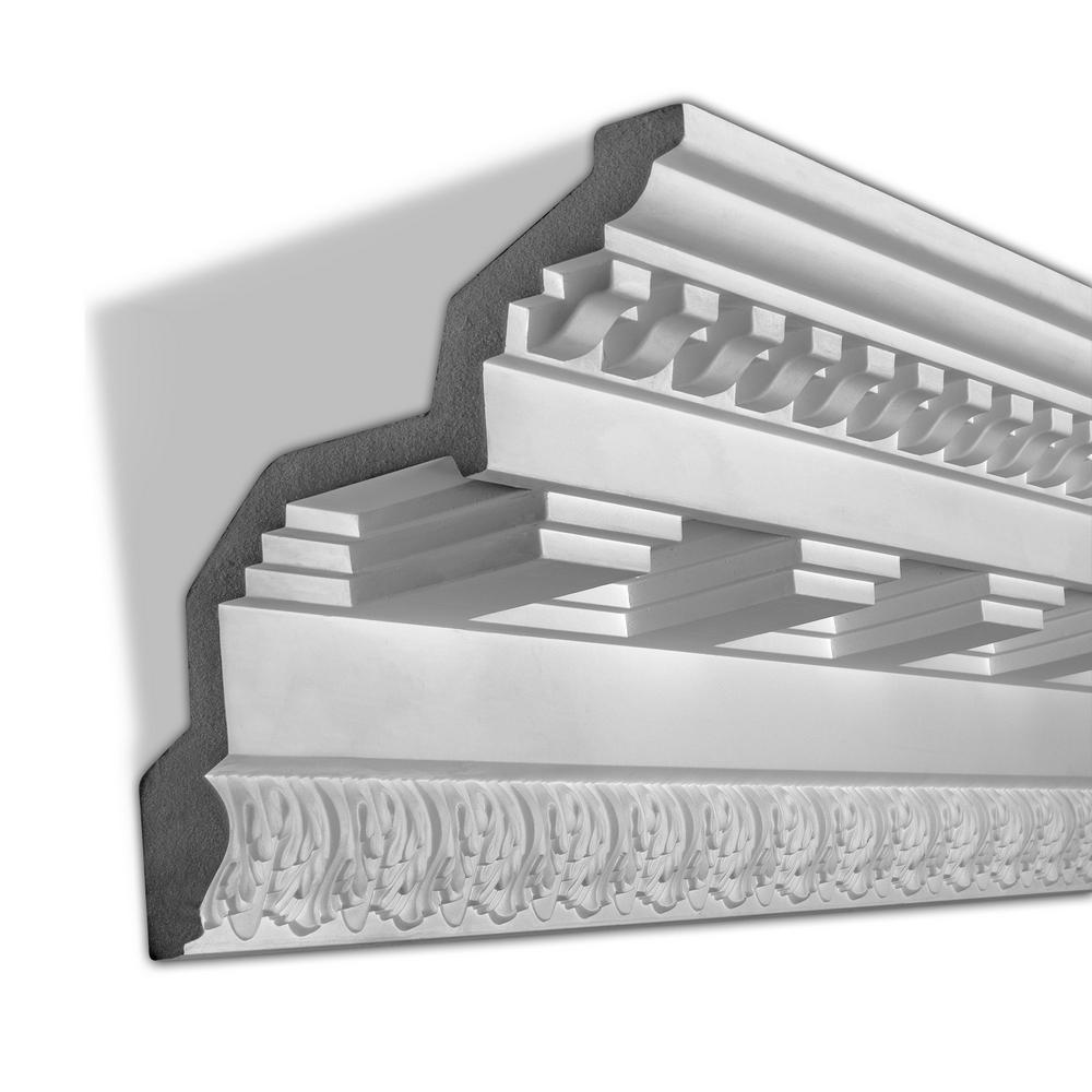 11-1/8 in. x 11-15/16 in. x 96 in. Dentil Polyurethane Crown Moulding