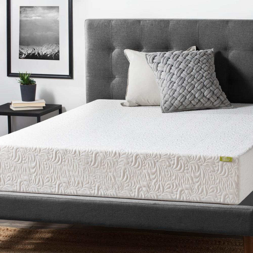 lucid 10 in twin xl ventilated latex foam mattress hdlu10tx65dl the home depot. Black Bedroom Furniture Sets. Home Design Ideas