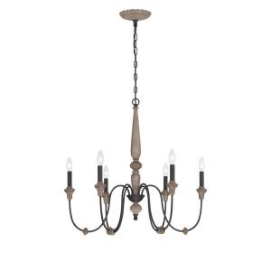 World Imports Capra 6-Light Rust Chandelier with Distressed Ivory Accents by World Imports