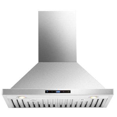 30 in. Convertible Wall-Mounted Range Hood with Light in Stainless Steel