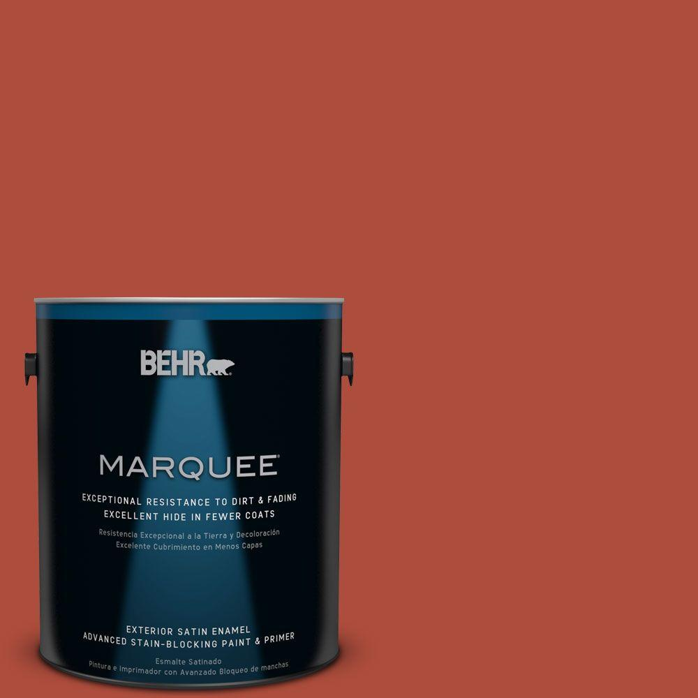 1 gal. #MQ4-35 Torch Red Satin Enamel Exterior Paint