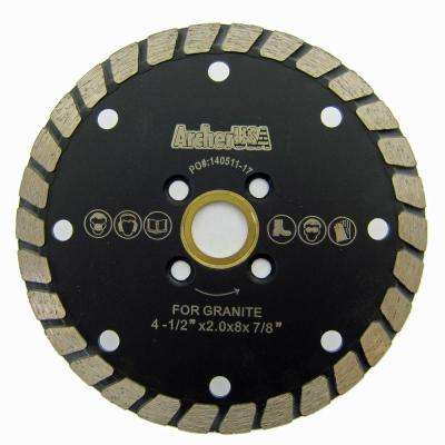 4.5 in. Wide Turbo Diamond Blade for Stone and Masonry Cutting