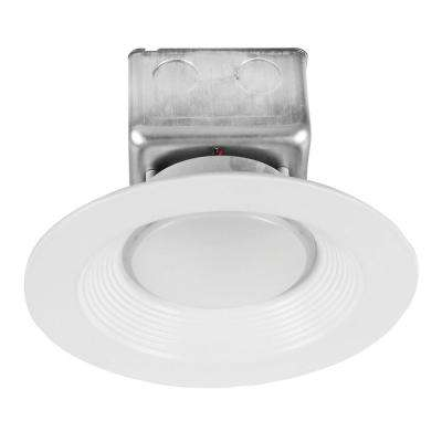 120-Watt Equivalent 15-Watt 6 in. Dimmable White Integrated LED Recessed Canless Retrofit Trim 120-277V Cool White 99616
