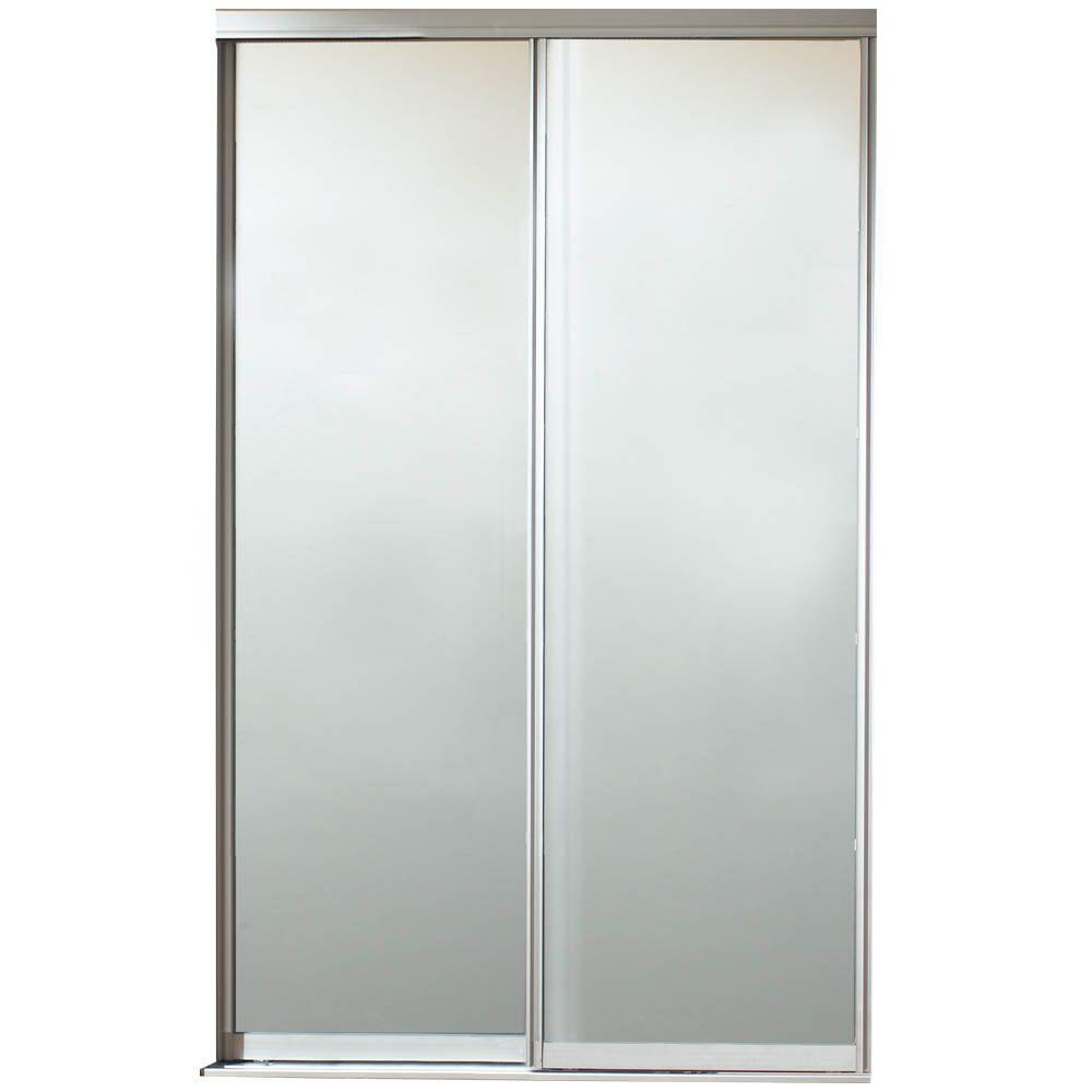 Contractors wardrobe 60 in x 81 in silhouette mystique for Interior sliding glass doors