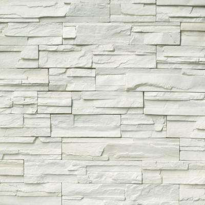Veneto Snow Stacked Stone 9 in. x 19.5 in. Natural Manufactured Stone Wall Cement Tile (6 sq. ft./Case)