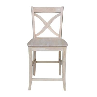 Vinyard 24 in. Unfinished Wood Bar Stool