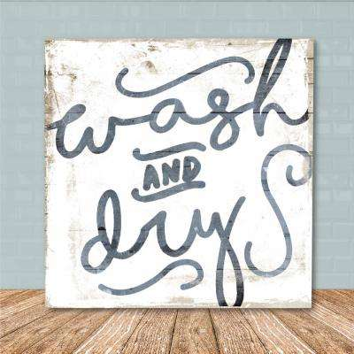 "16 in. x 16 in. ""Vintage Wash"" Canvas Printed Wall Art"