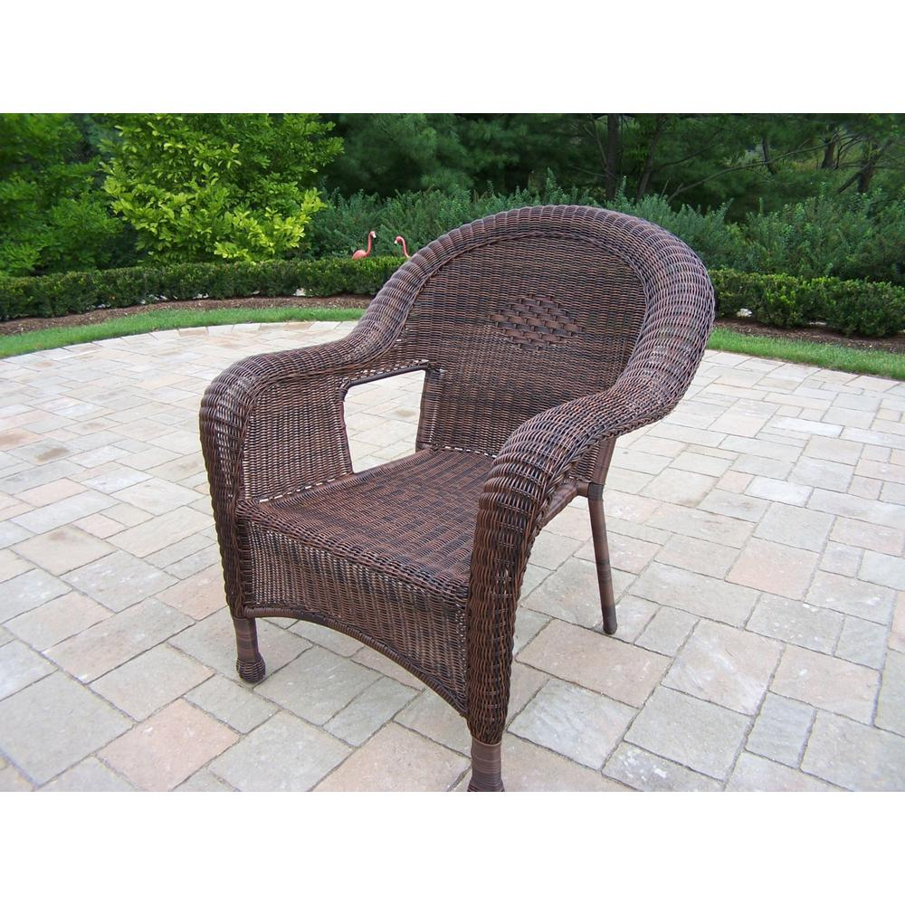 Noble House Jaxson Grey Stackable Wicker Outdoor Dining