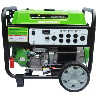 Energy Storm 7000/7500-Watt Gas Powered Electric/Recoil Start Gasoline Powered 458 cc Portable Generator with Wheel Kit