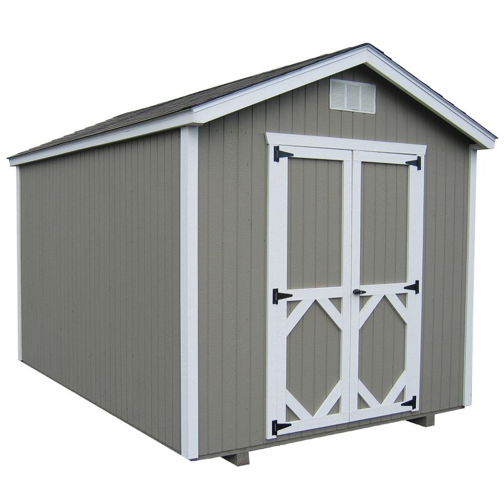 LITTLE COTTAGECO. Classic Gable 10 ft. x 10 ft. Wood Storage Building DIY Kit with Floor