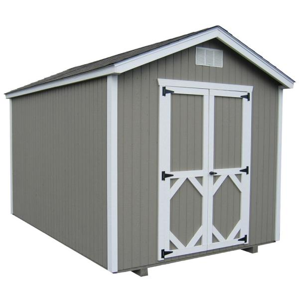 Classic Gable 10 ft. x 16 ft. Wood Storage Building DIY Kit with Floor
