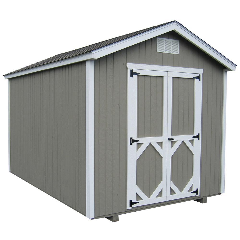 LITTLE-COTTAGE%C2%A0CO Classic Gable 8 ft. x 10 ft. Wood Storage Building Precut Kit with Floor