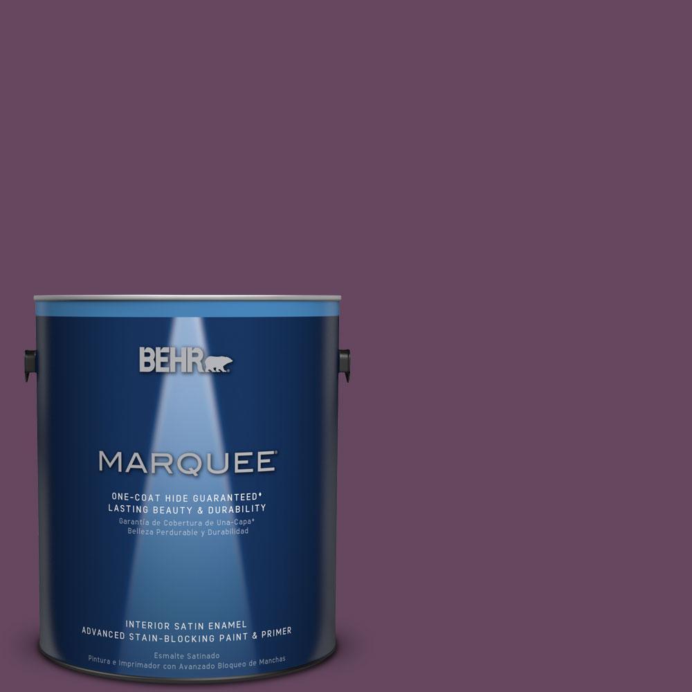 1 gal. #MQ5-35 Plum Rich One-Coat Hide Satin Enamel Interior Paint