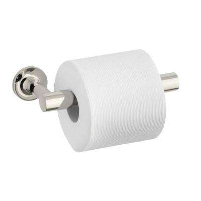 Purist Double Post Toilet Paper Holder in Vibrant Polished Nickel