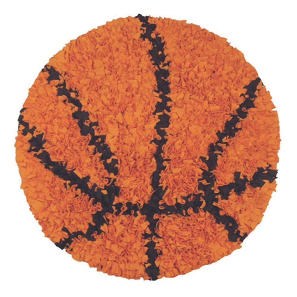 Sport Orange 3 ft. x 3 ft. Indoor Round Area Rug