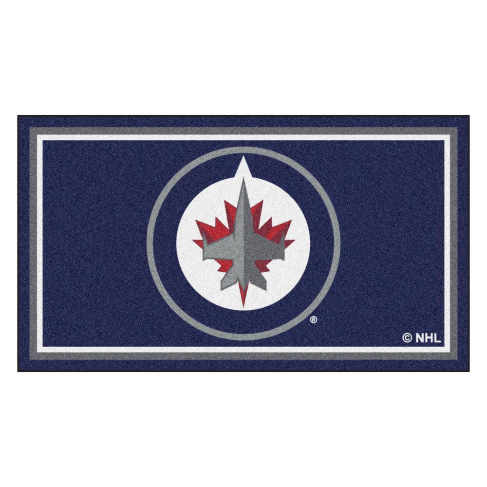 NHL - Winnipeg Jets 3 ft. x 5 ft. Ultra Plush Area Rug