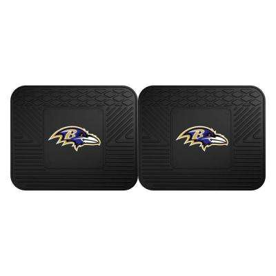 NFL Baltimore Ravens Black Heavy Duty 2-Piece 14 in. x 17 in. Vinyl Utility