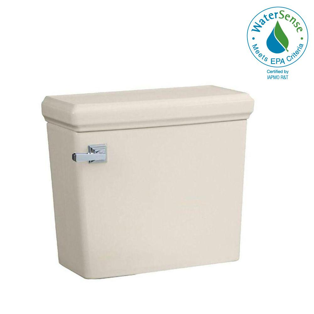Town Square 1.28 GPF Single Flush Toilet Tank Only in Linen