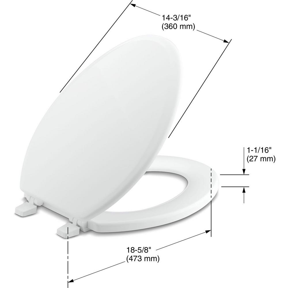 Incredible Kohler Ridgewood Elongated Closed Front Toilet Seat In White Gmtry Best Dining Table And Chair Ideas Images Gmtryco