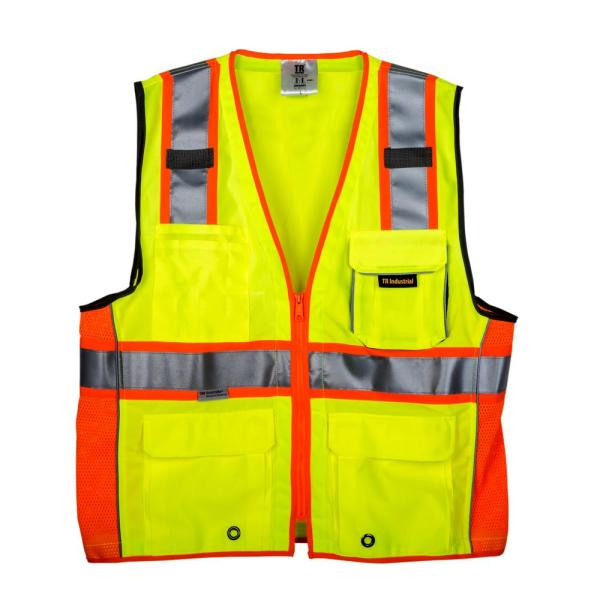 XXX-Large 3M Class 2 Safety Vest with Pockets and Zipper Closure