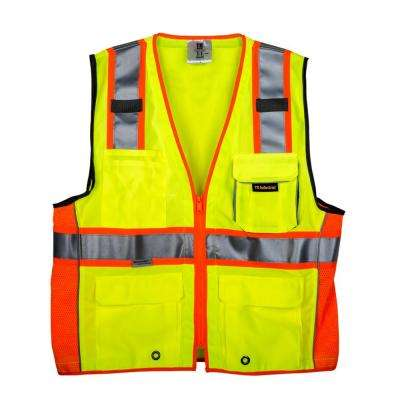 Medium 3M Class 2 Safety Vest with Pockets and Zipper Closure