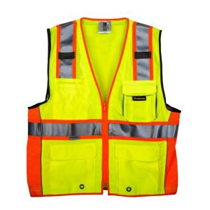 TR Industrial Large 3M Class 2 Safety Vest with Pockets and Zipper Closure by TR Industrial