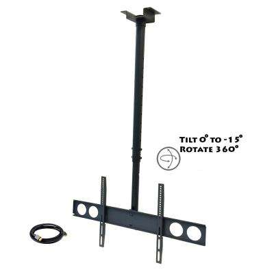 Tilting Ceiling Mount for 37 in. - 70 in. TVs with HDMI Cable in Black