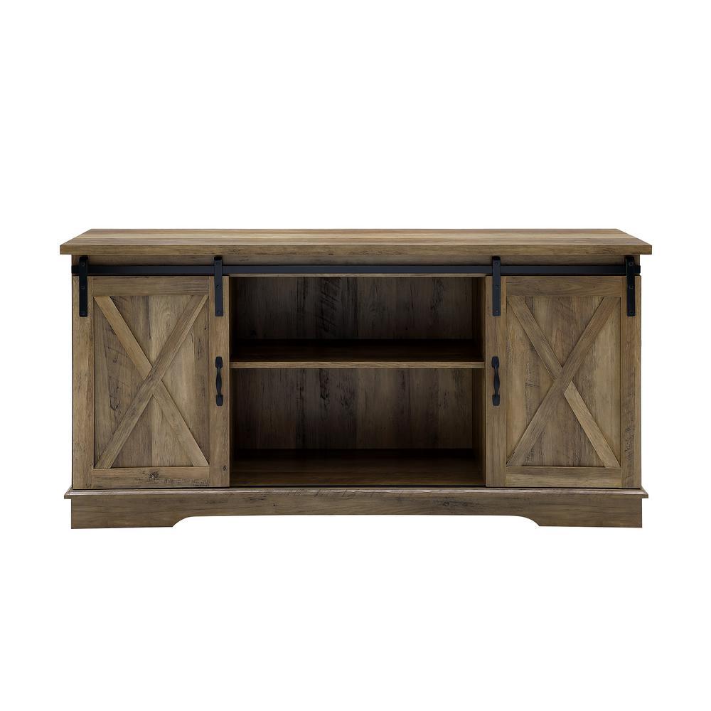 Walker Edison Furniture Company 58 In Rustic Oak Sliding Barn Door