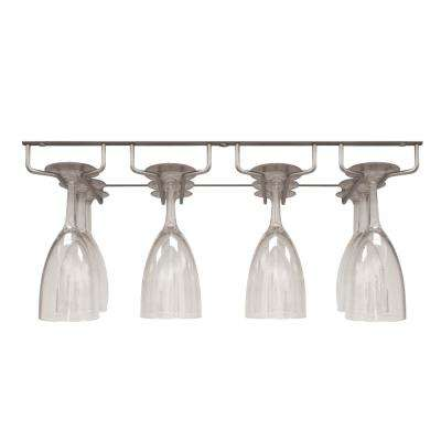 Silver Under Cabinet 12-Glasses Sectional Wine Glass Hanger