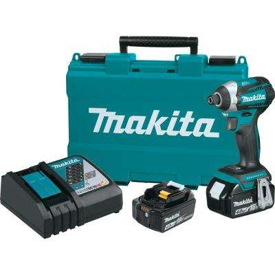 18-Volt LXT Lithium-Ion Brushless 1/4 in. Cordless Quick-Shift Mode 3-Speed Impact Driver w/ (2) Batteries 4.0Ah, Case