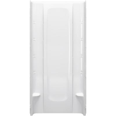 36 in. x 76 in. 1-Piece Direct-to-Stud Alcove Shower Back Wall in White
