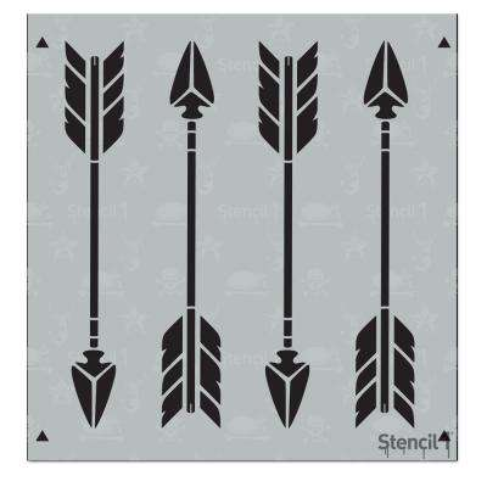 Arrows Small Repeat Pattern Stencil
