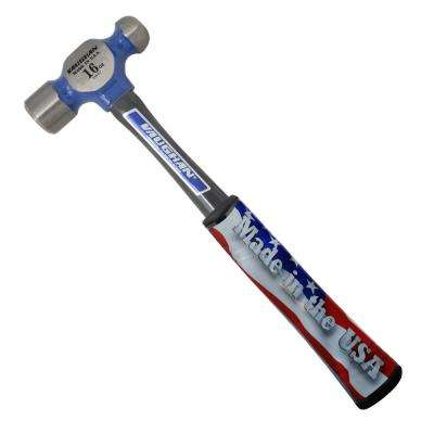 16 oz. Steel Ball Pein Hammer with 13 in. Fiberglass Handle