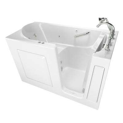 Exclusive Series 60 in. x 30 in. Right Hand Walk-In Whirlpool and Air Bath Tub with Quick Drain in White