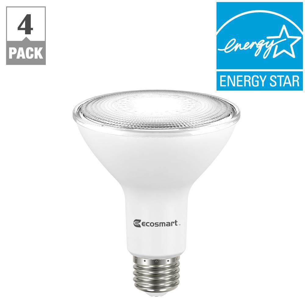 75W Equivalent Bright White PAR30 Dimmable LED Flood Light Bulb (4-Pack)