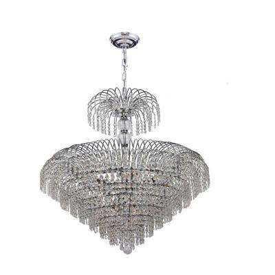 Empire Collection 14-Light Polished Chrome Crystal Chandelier