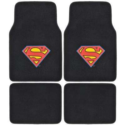 Man of Steel Superman WBMT-1601 Carpet 4 Pieces Car Floor Mats
