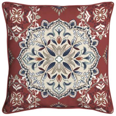 Chili Medallion Square Outdoor Throw Pillow (2-Pack)