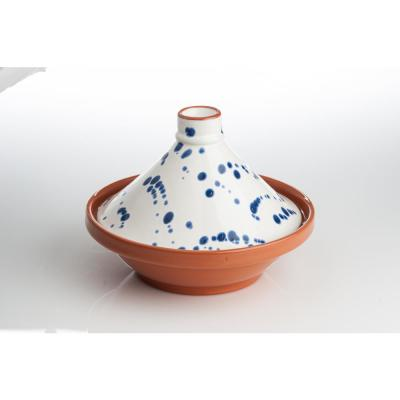 Blue and White Speckled Tagine