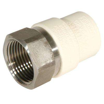 1-1/4 in. CPVC Stainless Steel Socket x FPT Transition Adaptor Fitting